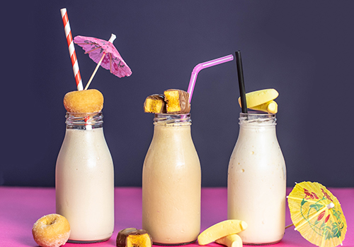 milk bottle cocktails